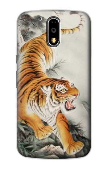 Printed Chinese Tiger Tattoo Painting Motorola DROID Turbo Case