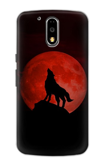 Printed Wolf Howling Red Moon Motorola DROID Turbo Case