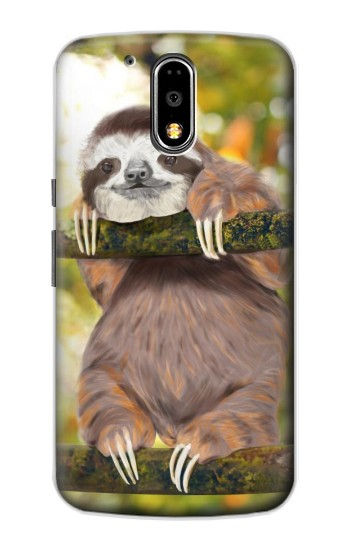 Printed Cute Baby Sloth Paint Motorola DROID Turbo Case