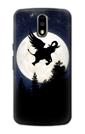 Printed Flying Elephant Full Moon Night Motorola DROID Turbo Case