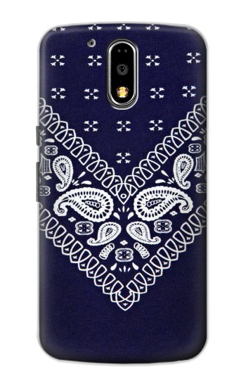 Printed Navy Blue Bandana Pattern Motorola DROID Turbo Case