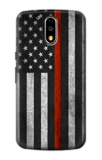 Printed Firefighter Thin Red Line Flag Motorola DROID Turbo Case