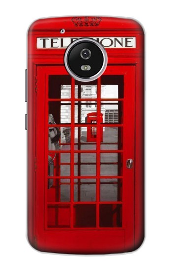 Printed Classic British Red Telephone Box Motorola Moto G4 Play Case