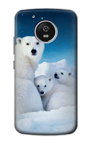 Printed Polar Bear Family Arctic Motorola Moto G4 Play Case