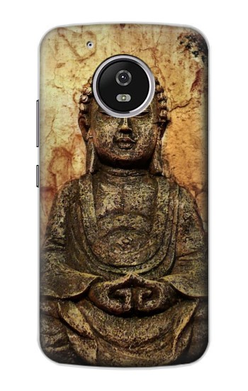 Printed Buddha Rock Carving Motorola Moto G4 Play Case
