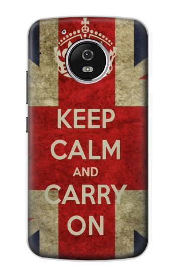 Printed Keep Calm and Carry On Motorola Moto G4 Play Case