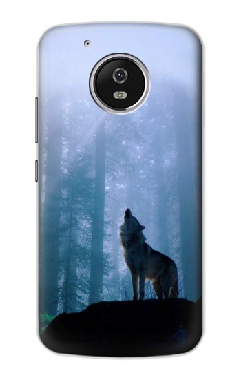 Printed Wolf Howling in Forest Motorola Moto G4 Play Case