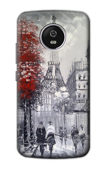 Printed Eiffel Painting of Paris Motorola Moto G4 Play Case