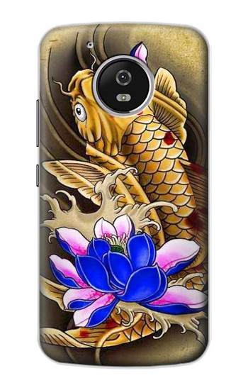 Printed Carp Koi Fish Japanese Tattoo Motorola Moto G4 Play Case