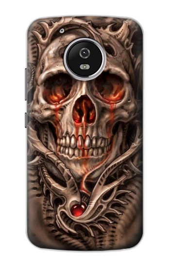 Printed Skull Blood Tattoo Motorola Moto G4 Play Case