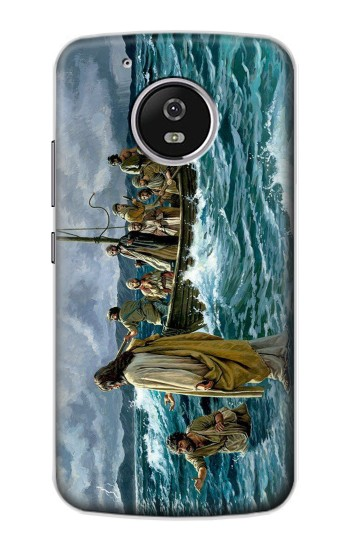 Printed Jesus Walk on The Sea Motorola Moto G4 Play Case