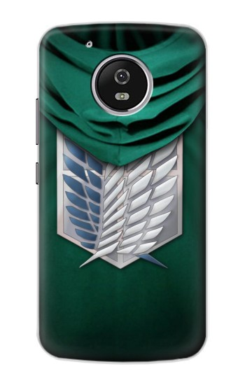 Printed Attack on Titan Scouting Legion Rivaille Green Cloak Motorola Moto G4 Play Case