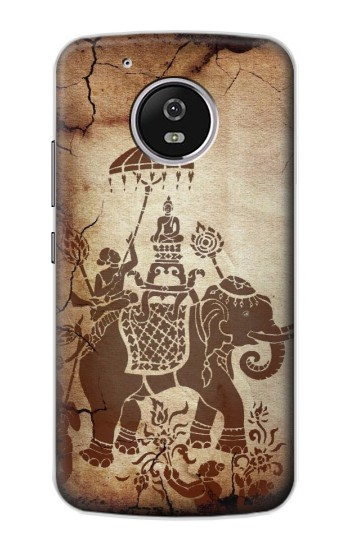 Printed Thai Art Buddha on Elephant Motorola Moto G4 Play Case