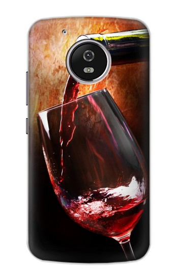 Printed Red Wine Bottle And Glass Motorola Moto G4 Play Case