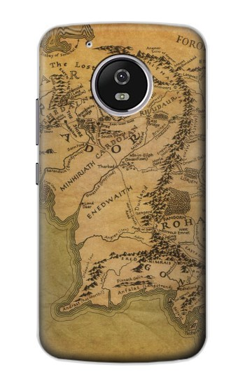 Printed The Lord Of The Rings Middle Earth Map Motorola Moto G4 Play Case