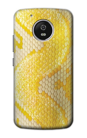 Printed Yellow Snake Skin Motorola Moto G4 Play Case