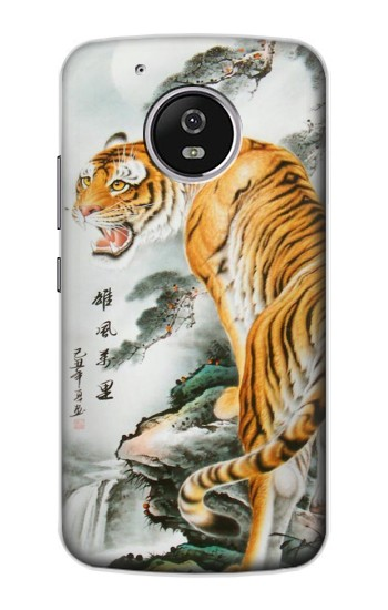 Printed Chinese Tiger Painting Tattoo Motorola Moto G4 Play Case