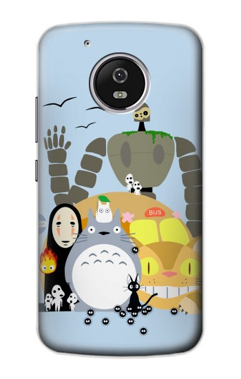 Printed Totoro Cat Bus Laputa Noface and Friends Motorola Moto G4 Play Case