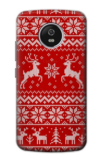 Printed Christmas Reindeer Knitted Pattern Motorola Moto G4 Play Case