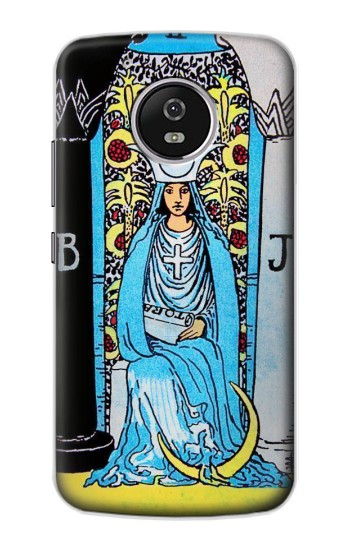 Printed The High Priestess Vintage Tarot Card Motorola Moto G4 Play Case