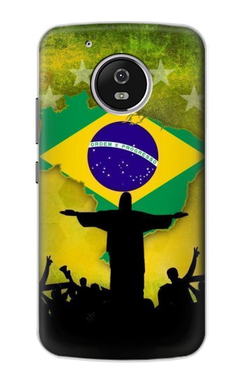 Printed Brazil Football Flag Motorola Moto G4 Play Case