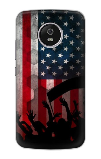 Printed USA American Football Flag Motorola Moto G4 Play Case