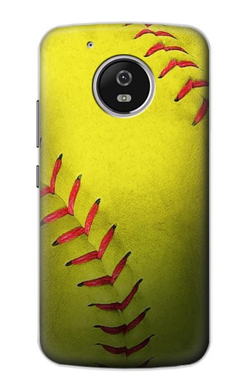 Printed Yellow Softball Ball Motorola Moto G4 Play Case