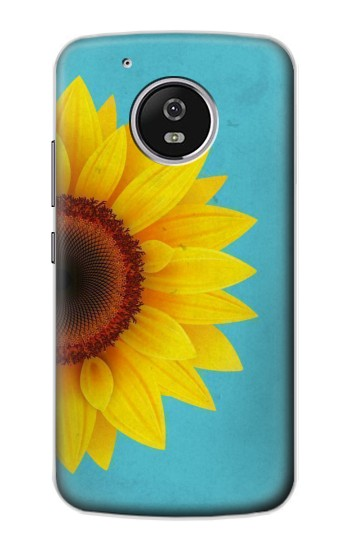 Printed Vintage Sunflower Blue Motorola Moto G4 Play Case