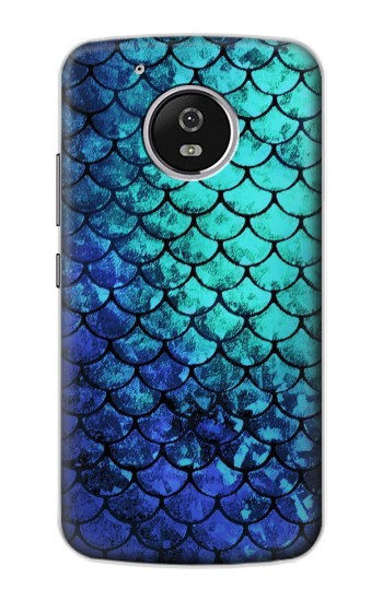 Printed Green Mermaid Fish Scale Motorola Moto G4 Play Case