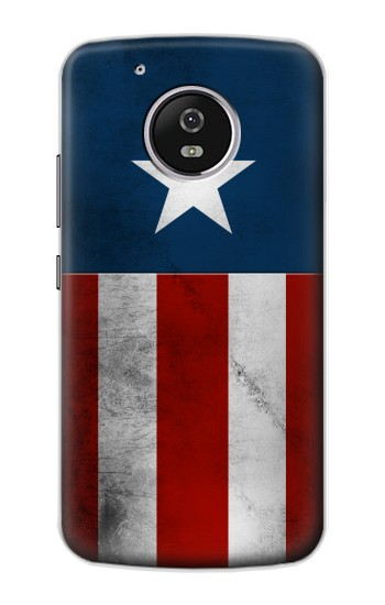 Printed Captain Star Flag of America Motorola Moto G4 Play Case