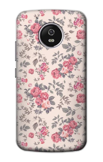 Printed Vintage Rose Pattern Motorola Moto G4 Play Case