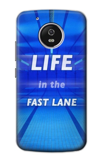 Printed Life in the Fast Lane Swimming Pool Motorola Moto G4 Play Case