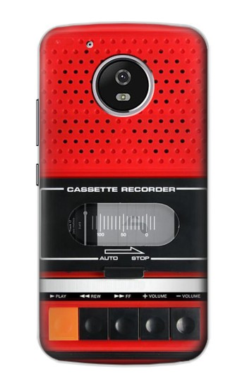 Printed Red Cassette Recorder Graphic Motorola Moto G4 Play Case
