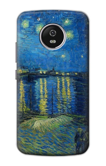 Printed Van Gogh Starry Night Over Rhone Motorola Moto G4 Play Case