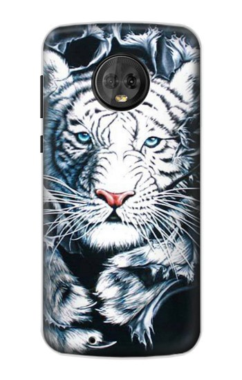 Printed White Tiger Motorola Moto G6 Case