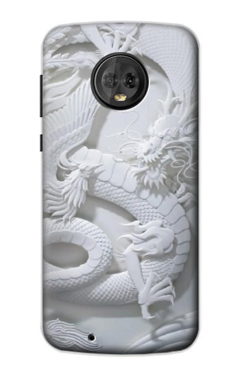 Printed Dragon Carving Motorola Moto G6 Case