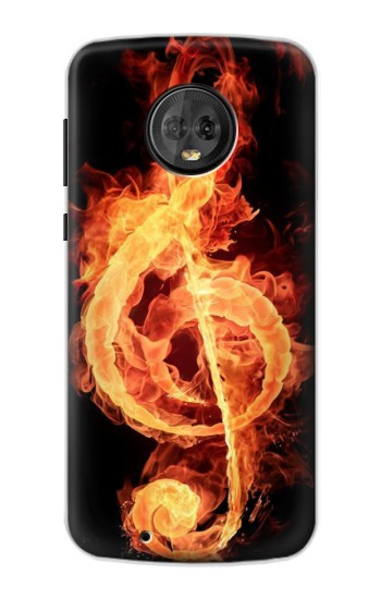 Printed Music Note Burn Motorola Moto G6 Case