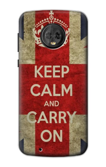Printed Keep Calm and Carry On Motorola Moto G6 Case