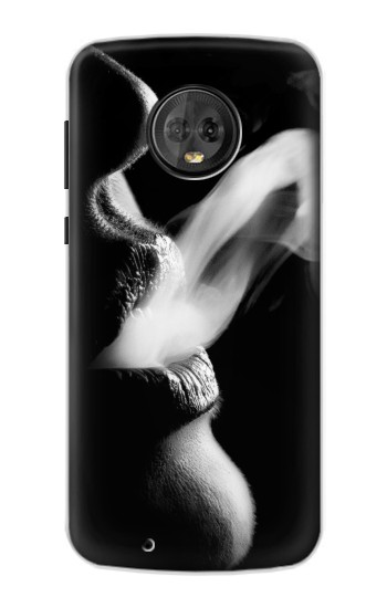 Printed Sexy Lip Girl Smoking Motorola Moto G6 Case