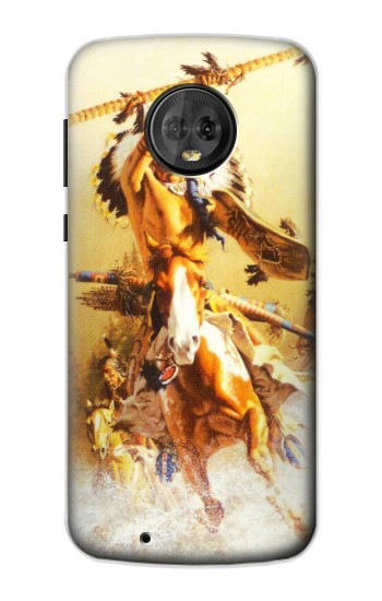 Printed Red Indian Warrior Motorola Moto G6 Case