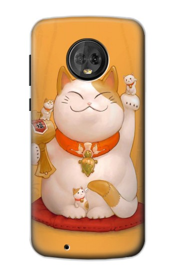 Printed Maneki Neko Lucky Cat Motorola Moto G6 Case