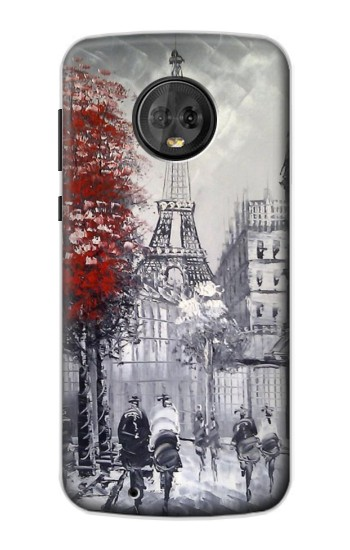 Printed Eiffel Painting of Paris Motorola Moto G6 Case