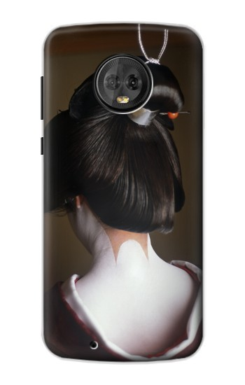 Printed Japan Geisha Neck Motorola Moto G6 Case