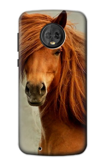 Printed Beautiful Brown Horse Motorola Moto G6 Case