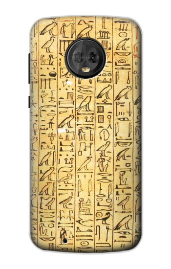 Printed Egyptian Coffin Texts Motorola Moto G6 Case