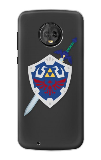 Printed Skyward Sword Hylian Shield Zelda Motorola Moto G6 Case