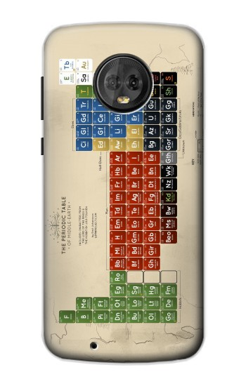 Printed The Periodic Table of Middle Earth The Lord of The Rings Motorola Moto G6 Case
