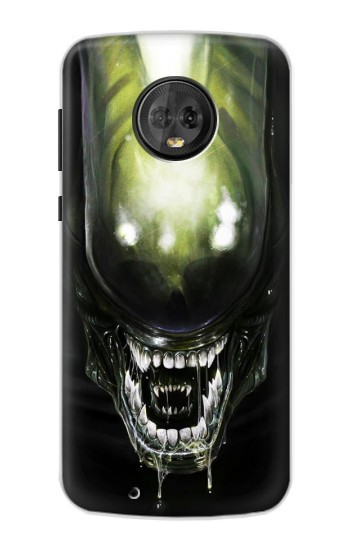 Printed Alien Head Motorola Moto G6 Case