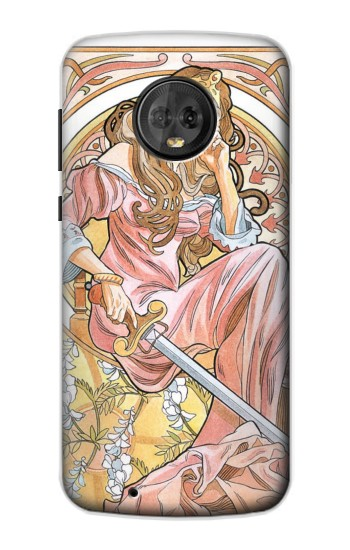 Printed Queen of Swords Tarot Motorola Moto G6 Case