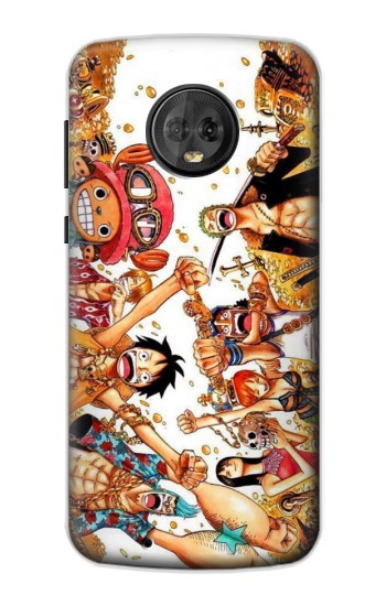 Printed One Piece Straw Hat Luffy Pirate Crew Motorola Moto G6 Case
